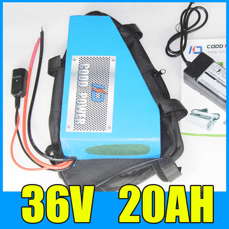 цена на 36v electric bike battery 36v 20ah Triangle lithium ion 36v bafang motor 36V 700W Free BMS Charger shipping and duty