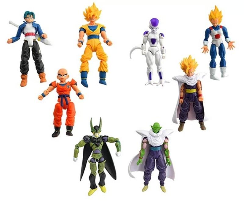 8pcs/lot Dragon Ball Set PVC <font><b>Action</b></font> <font><b>Figures</b></font> Crazy <font><b>Party</b></font> Dragonball <font><b>Figure</b></font> Best Gift For Children Collectible Model Toy Toys