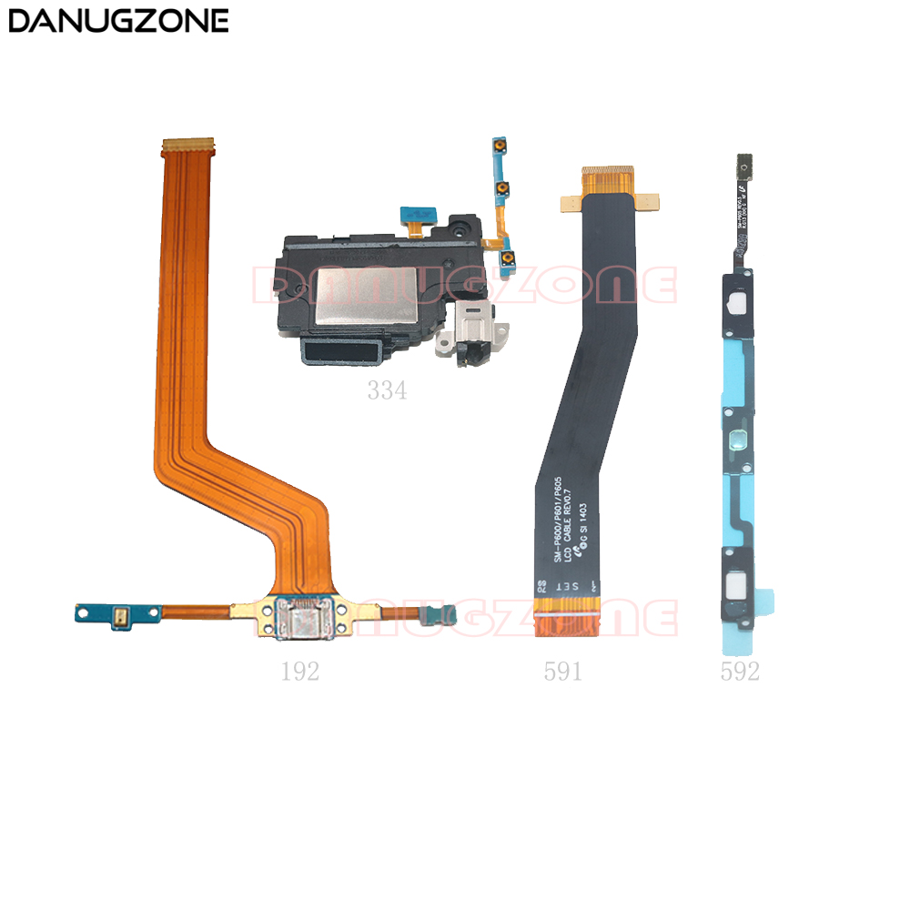 USB Charging Port Connector Charge Socket Power Volume Button LCD Display Flex Cable For Samsung Galaxy P605 SM-P605 P600 P601
