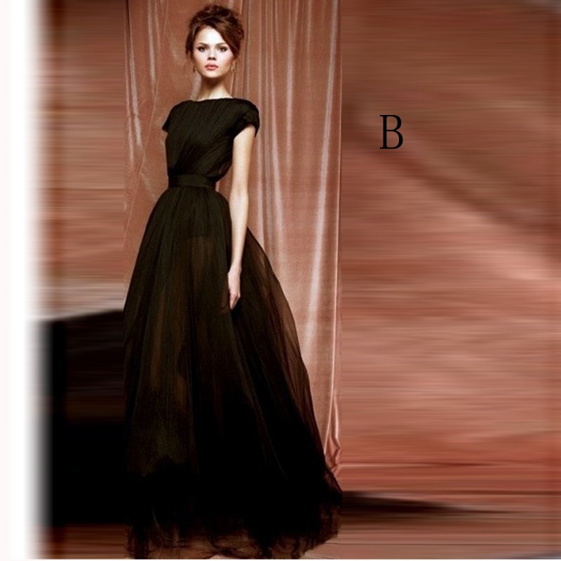 Graceful Black Long Tulle Skirts 2016 Young Girls Skirts Short Inside 3 Layers Maxi Skirts For ...