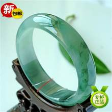 Fine Jewelry>>Bangle Jade bracelet natural Myanmar Burma kind of light green full green floating Royal bracelet Violet floatin(China)