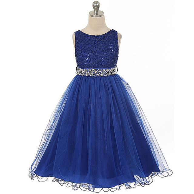 01f809947 Chicas princesa vestido de verano sin mangas ropa de rendimiento para 3 4 5  6 7 ...