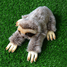33CM Kawaii Lying Three-toed Sloth Plush Toys Soft Simulation Animal Toys Sloths Plush Dolls Christmas Gifts