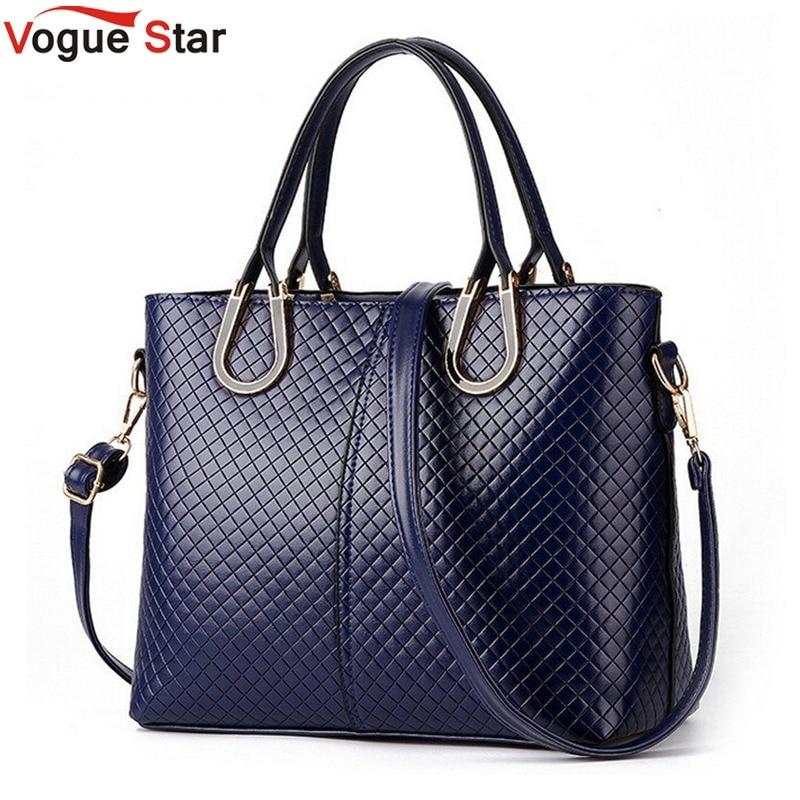 Vogue Star 2017 High quality women handbags big smooth shoulder bag Charm Luxury female tote messenger bag for women LA303  цена и фото