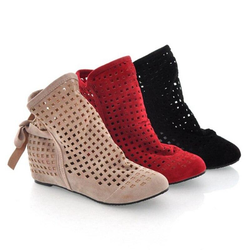 Aliexpress.com : Buy Big Size 34 43 Women's Summer Boots Flat Low ...
