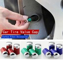 5 комплектов автомобиль Стайлинг шин колпачки клапана цвет углеродного волокна автомобильный клапан колпачок шины клапан Крышка углеродного волокна декоративные аксессуары для автомобиля