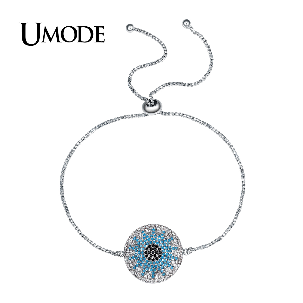 27a9b964c UMODE New Fashion Party Austrian Rhinestone Round Chain & Link Bracelets  for Women White Gold Color Jewelry Pulseira Gift UB0108
