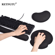 Keyboard Wrist Rest Pad Mouse Wrist Rest Pad Ergonomic Memory Foam Mat Pads Comfort Gaming Mouse Pad For Office Computer Laptop 3d metal alloy ergonomic mouse pad arm rest wrist stand gaming mousepad table hand drag wrist support for computer officer gamer