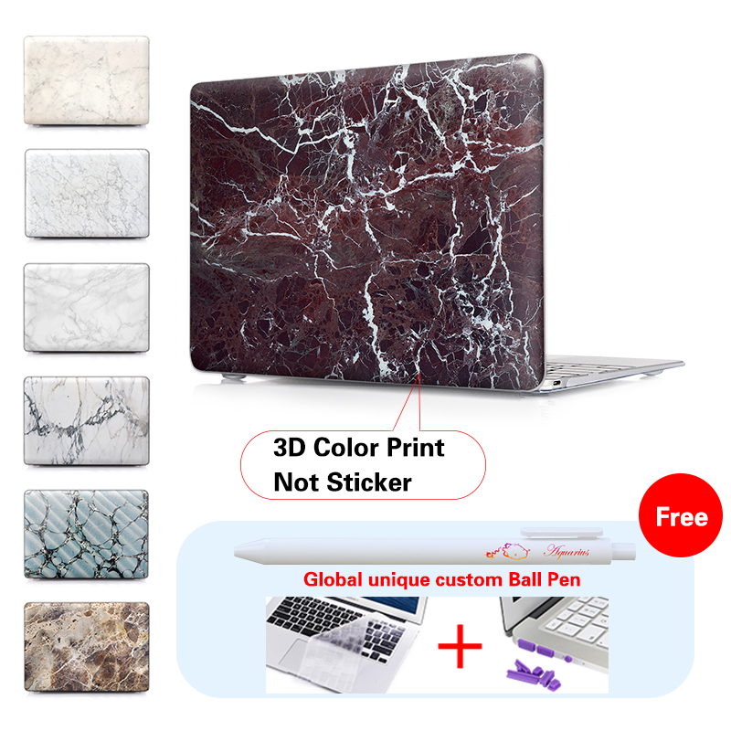 Aliexpress Buy 2016 Model Pro 13 15 Touch Bar Case Matte Marble For Macbook Air 11 12 Inch Retina Mac Book 133 A1706 A1707 From
