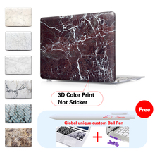 2016 Model Pro 13 15 Touch bar Case Matte Marble for Macbook Air 11 12 Pro 13 15 inch retina for Mac Book 13.3 inch A1706 A1707