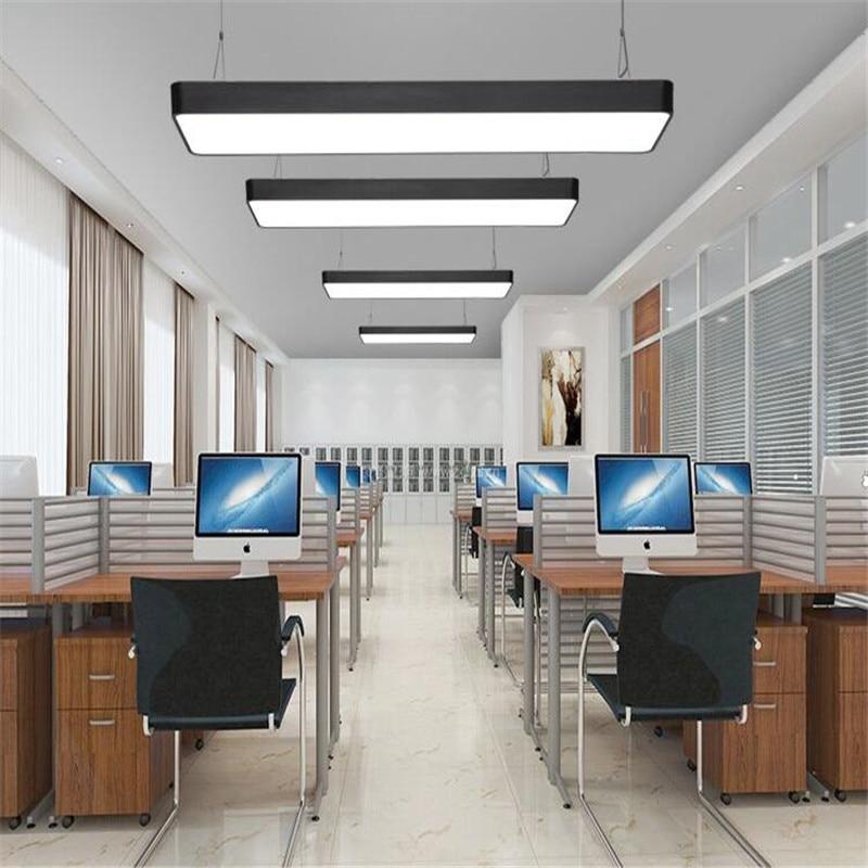 LED office chandelier rectangular chandelier fixture creative modern minimalist studio rectangular chandelier vibration of orthotropic rectangular plate