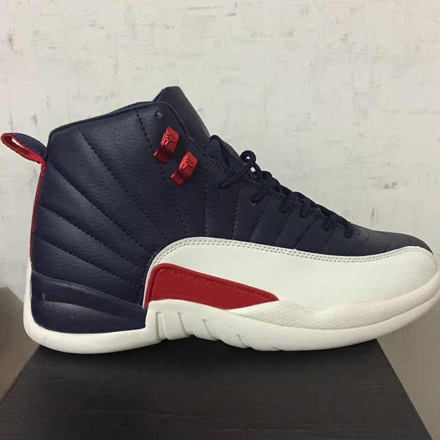 fb41e743317f ... High Quality AJ 12 12s OVO White Gym Red Dark retro jordan Basketball  Shoes Men Women ...