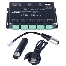 DC5V-24V 12Channel RGB DMX LED controller decoder + USD &driver strip module