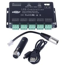цена на DC5V-24V 12Channel RGB DMX LED controller DMX decoder + USD DMX controller &driver LED strip module