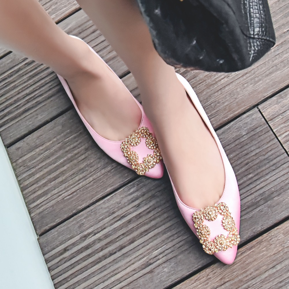 New fashion big size brand shoes green crystal shallow thick heel slik women pumps pointed toe party causal office lady shoes 13 2017 new fashion brand spring shoes large size crystal pointed toe kid suede thick heel women pumps party sweet office lady shoe