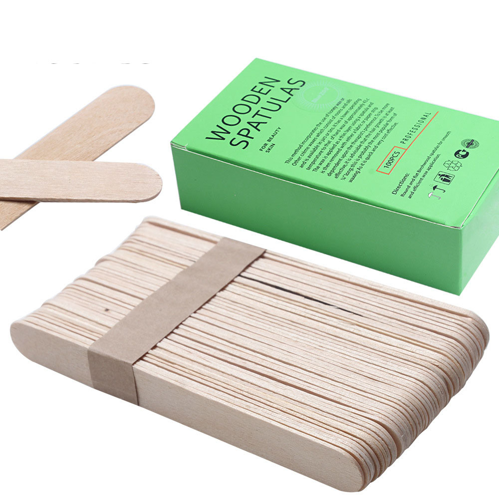 100PCS Wooden Body Hair Removal Sticks Wax Waxing Disposable Sticks Beauty Toiletry Kits Wax Waxing Disposable Sticks 23