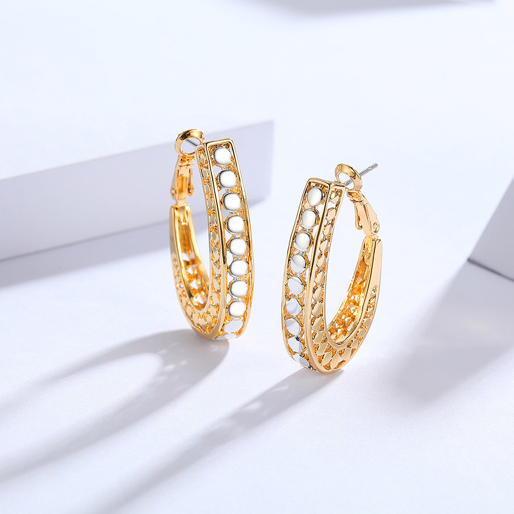 Aliexpress.com   Buy Viennois Gold Color Hoop Earrings for Women Silver  Color Dot Hollow Earrings Female Earrings Trendy Jewelry from Reliable  colorful hoop ... 8020e7ca07af