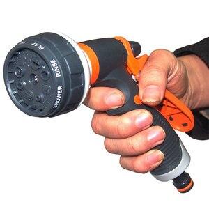 Image 3 - 8 パターン庭の水鉄砲ホースノズル家庭用洗車ヤード水噴霧器ガーデン水ホースノズル振りかけるツール
