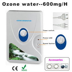 1pc 600mg Ozone Generator Air Purifier Ozonizer Ozonizador Ozone Ozono Portable Oxygen Concentrator Water Purifying Sterilizing