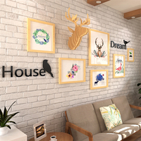 6pcs Porta Retrato Picture Frame Wall Hose Dream Letter Wedding Photo Frame Burlywood Environmental Wooden Picture Frame Set
