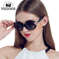 VEGOOS New Polarized Sunglasses Women Sun Glasses Brand Designer Fashion Round Face Superstar Style Big Frame #9001