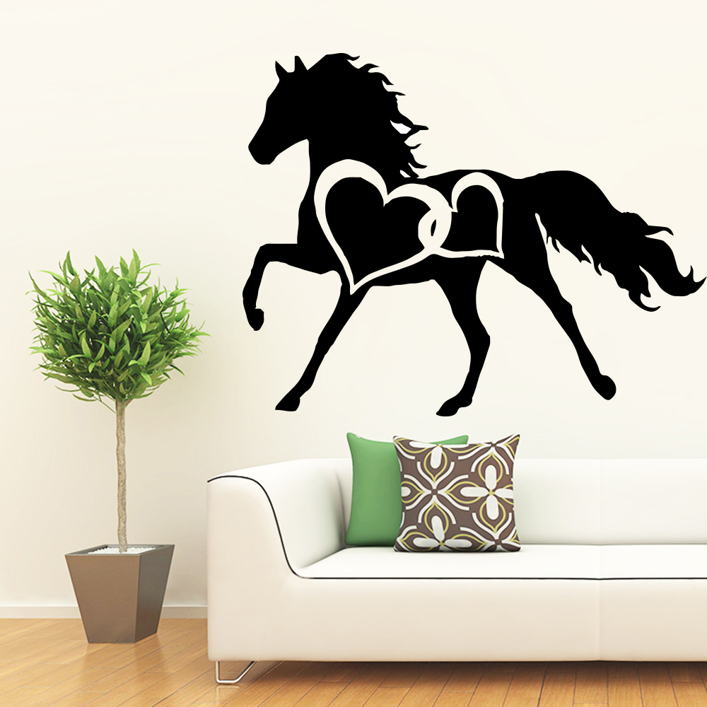 Us 1 83 17 Off New Horse Wall Mural Removable Wall Decal Removable Vinyl Mural Wallpaper Art Decals In Wall Stickers From Home Garden On