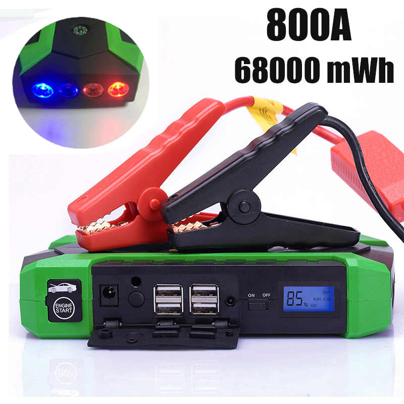 HAMBAR Car Battery Jump Starter 68000mWh Starting Device   12V 800A Portable Auto jumper Car Charger Car Booster Power Bank