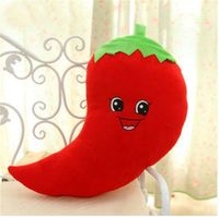 Very Nice Soft 50cm Red Hot Chili Peppers Food Fruit Vegetable Plush Decor Doll Pillow Birthday Cushion Toys Doll Hot Gift