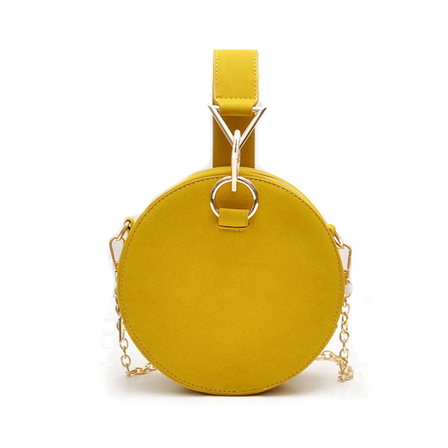 Suede Round Shaped Clutch Bag Women Evening Party Bags Retro Metallic Purse Top Handle Small Crossbody Chain Bag for Women