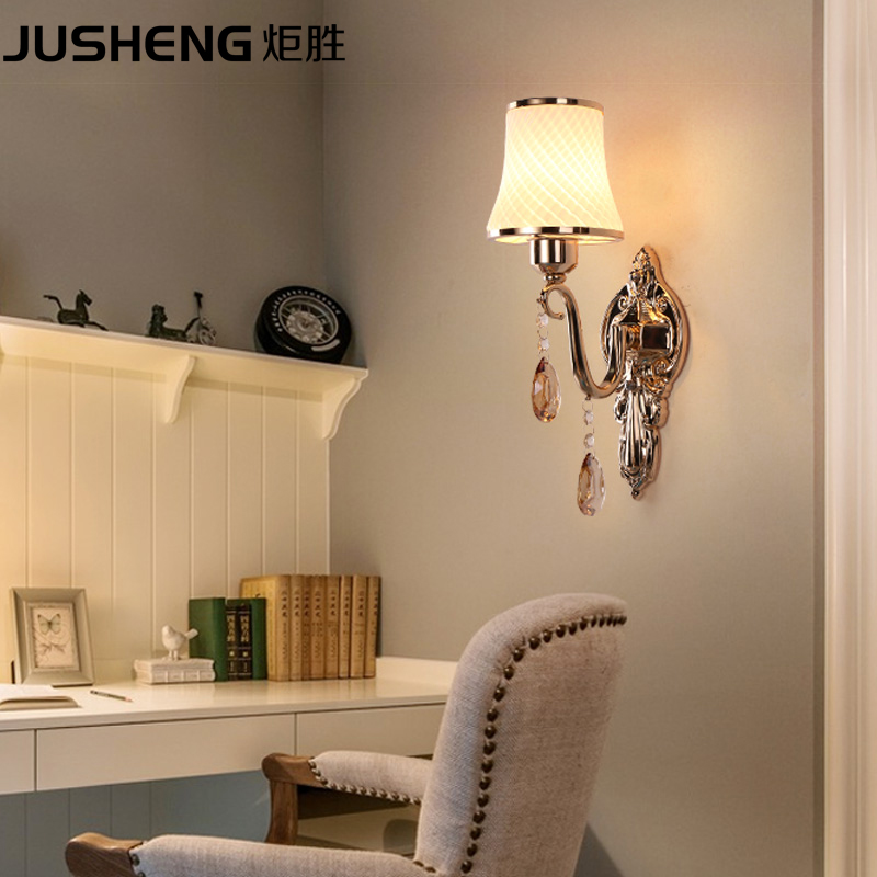 Simple modern bedroom bedside wall lamp European American style living room balcony lamp staircase aisle wall lamp