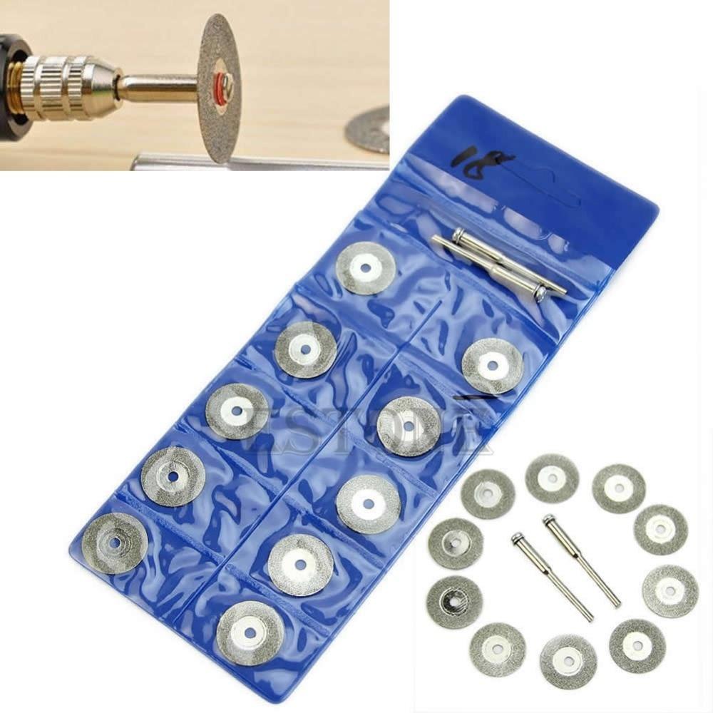1 Set 10pcs Rotary Circular Saw Blades Cutting Wheel Discs Mandrel Cutoff New