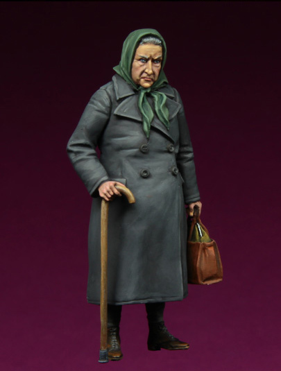 [Tuskmodel] 1 35 escala kit modelo de resina figuras WW2 mulher idosa