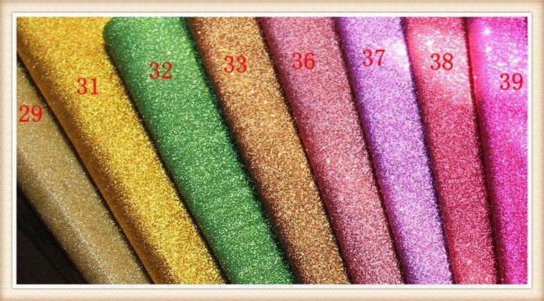 50yards Lot Glitter Vinyl Fabric Furniture Material Fabrics