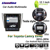 Liandlee 12,1 дюймов для Toyota Camry XV40 2012 ~ 2016 автомобиль Android 6 2 + 32 г Тесла экран gps Wi Fi BT навигационная карта навигации мультимедиа