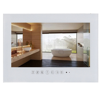 15 6 Inch IP66 Black Bathroom LED TV White Waterproof LED TV For Hotel Kitchen