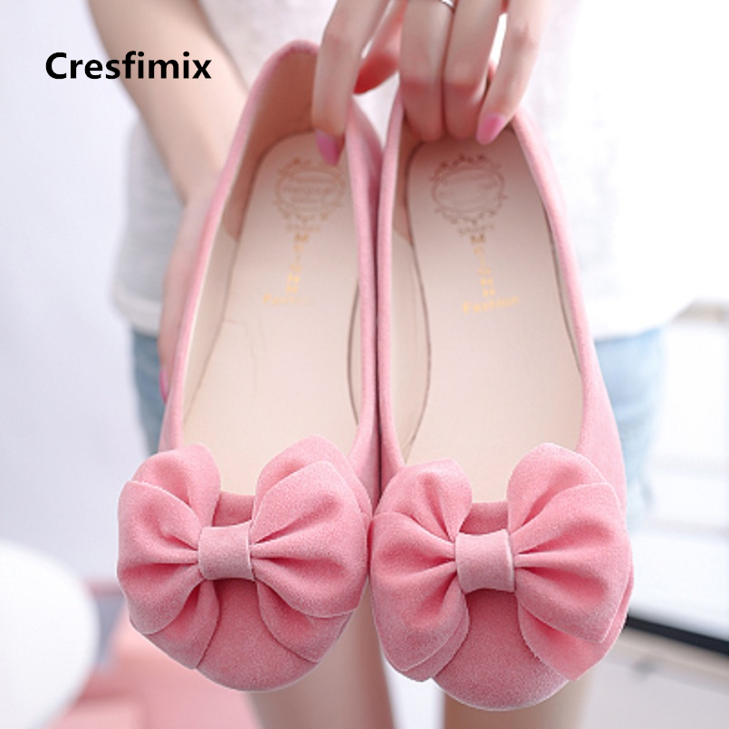 Cresfimix sapatos femininas women cute pink bow tie slip on flat shoes lady fashion & comfortable slip on anti skid flats a699Cresfimix sapatos femininas women cute pink bow tie slip on flat shoes lady fashion & comfortable slip on anti skid flats a699