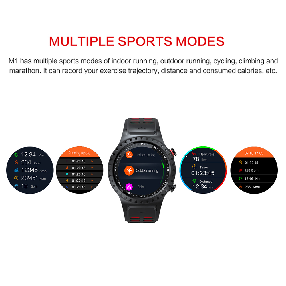lemfo m1 men's bluetooth smart watch with gps ip67 waterproof heart rate monitor and long standby time