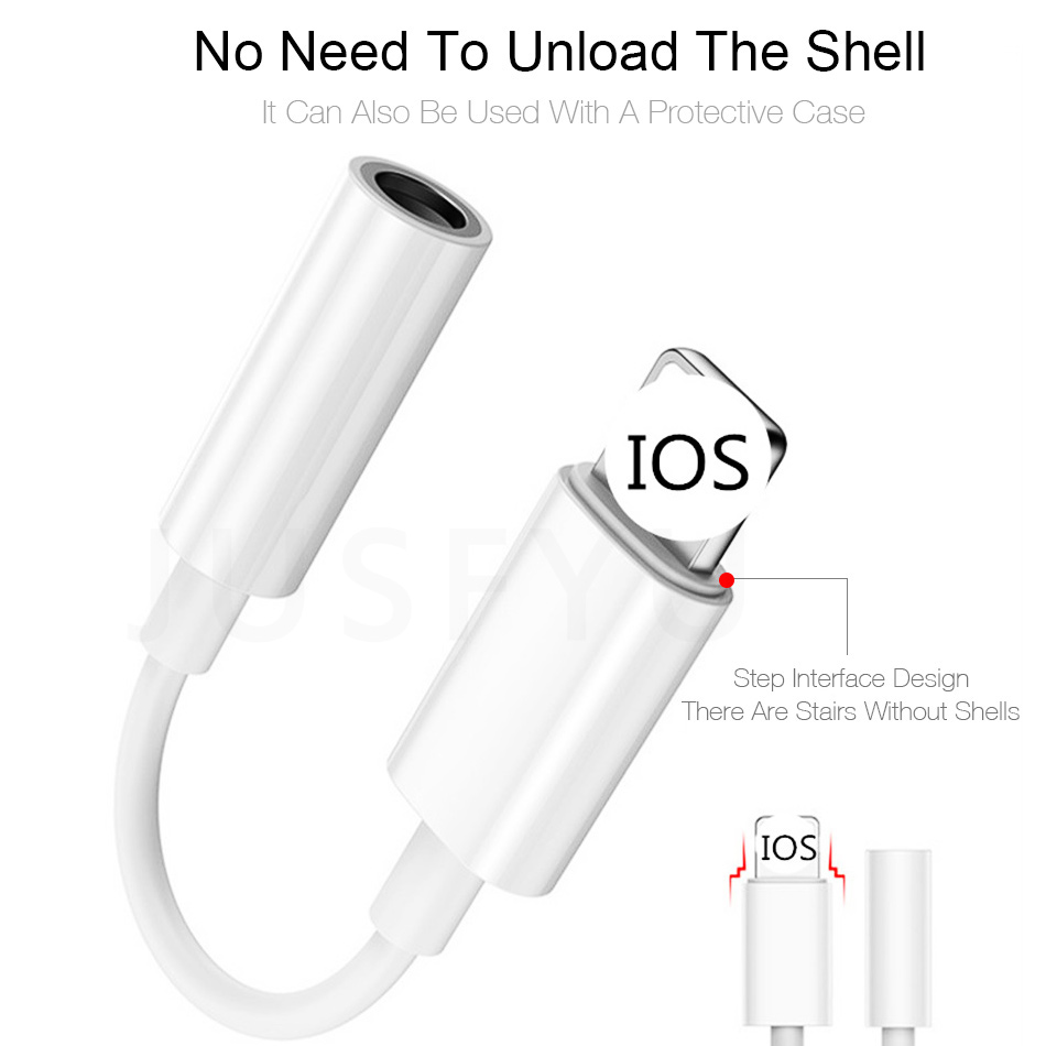 For iPhone 3 5mm Jack AUX Headphone Adapter Cable For 8 7 X XS MAX XR 3 5 Headset Audio Adaptador Adaptateur Phone Accessories in Earphone Accessories from Consumer Electronics