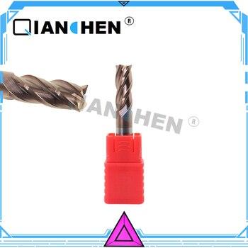Cortador de fresado de carburo sólido de alta eficiencia de mecanizado de molino de extremo nuevo de 14mm 100L, broca espiral de flauta HRC55 4