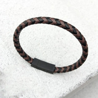 Top Kwaliteit Lederen Armband Mannen Donkerbruin tweekleurige Braid Armbanden Fashion Lederen Armbanden Voor Vrouwen Mannen Paar