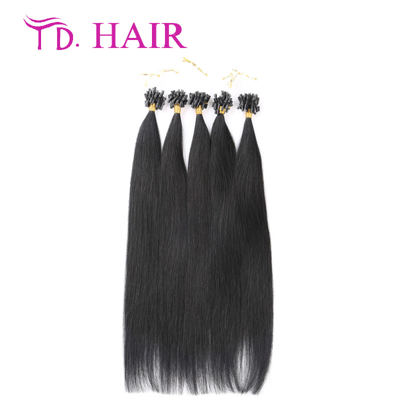 #1 Micro loop hair extensions double drawn micro loop ring hair extension DHL free shipping virgin micro loop hair extensions