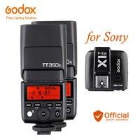 Godox TT350S Камера флэш ttl вспышка для фотокамер Speedlite HSS 1/8000 s 2,4 г Speedlite + передатчик для sony a6000 a6300 a6500 a7RII a7R a58 a99 a77II rx10 a7s