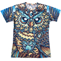 Newest style bright god owl of dreams 3d t shirt women/men harajuku vintage religion tshirt unisex summer casual tee shirts tops