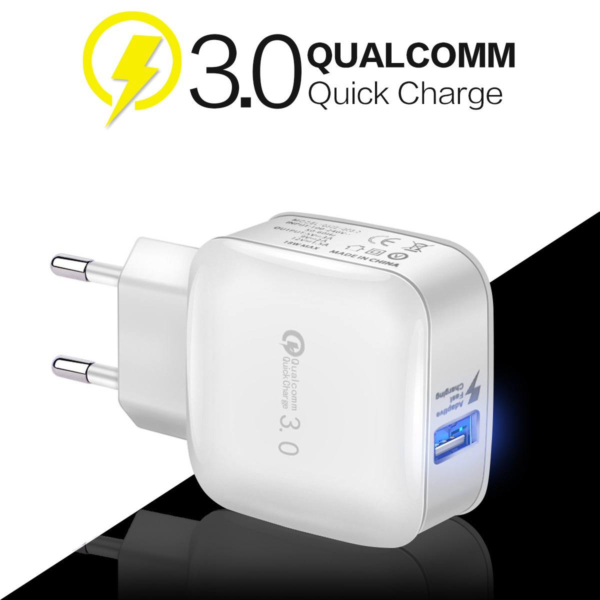 18W USB Phone Charger Quick Charge 3.0 Fast Mobile