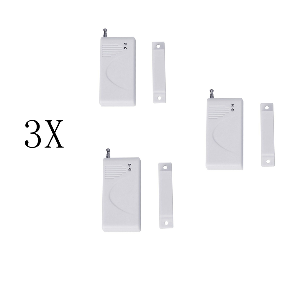 3Pc RF 433MHz Home Alarm Security Wireless Door And Window Sensor Alarm For GSM Alarm System Detect Window and Door long distance door window sensor for alarm system