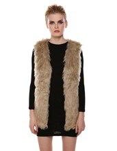 2016 Low Price Faux Fur Vest Gilet Vset Jacket Mid-long Outwear Waistcoat Hot