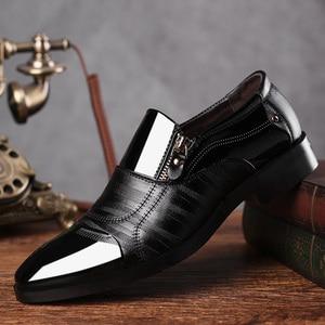 REETENE Fashion Business Dress Men Shoes 2020 New Classic Leather Men'S Suits Shoes Fashion Slip On Dress Shoes Men Oxfords