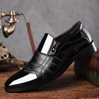 Reetene/модные мужские туфли в деловом стиле; Новинка 2019 года; классические кожаные мужские костюмы; модные модельные туфли без застежки; мужск...