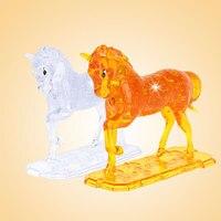 3D Crystal Puzzle игры из творческих детей Интеллектуальное развитие модель лошади