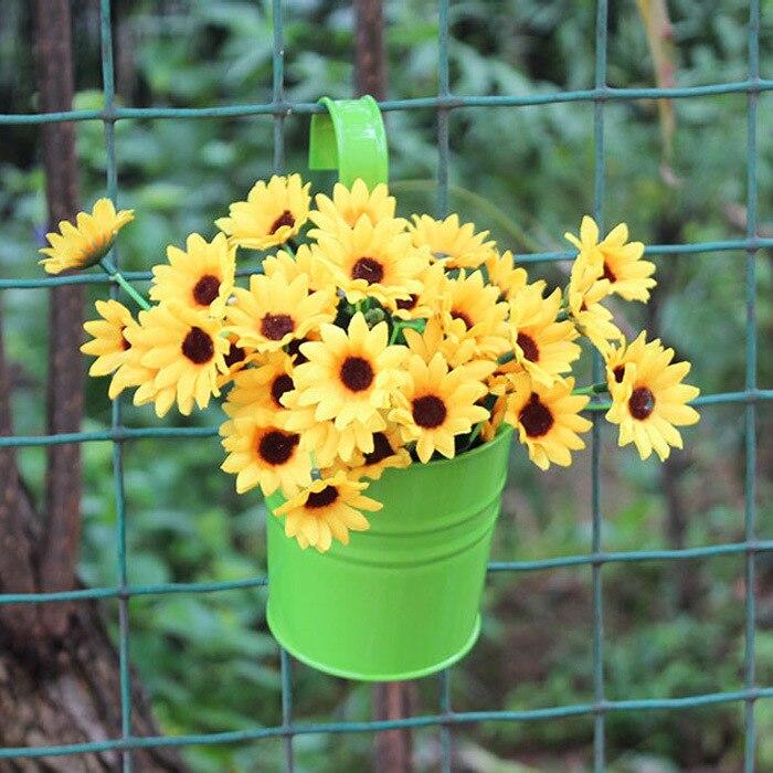 2018 Fashion Colorful Macetas Vertical Garden Planters Metal Flower Pots  Hang Bucket Hanging Wall Pot De Fleur Home Decor S4709 In Flower Pots U0026  Planters ...